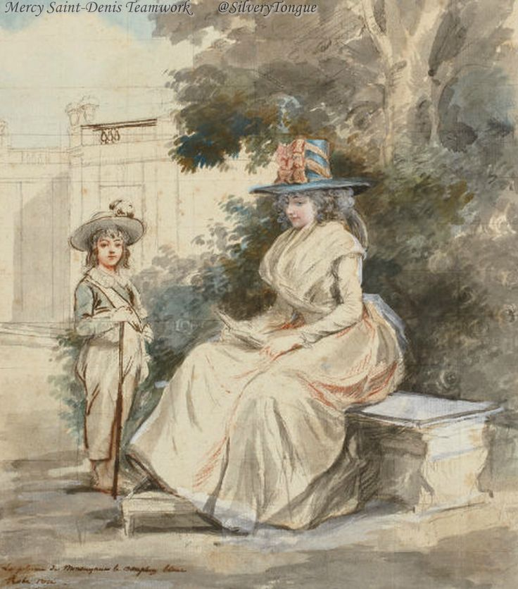 The dauphin and Madame Elisabeth in a park by Antoine-Louis-Francois Sergent-Marceau.
