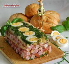 Hozzávalók : 50 dkg főtt füstölt tarja 3330 g. üveges konzerv spárga 1 db egész tojás 3,5 dl. húsleves 1 csomag zselatinpor 4 e...