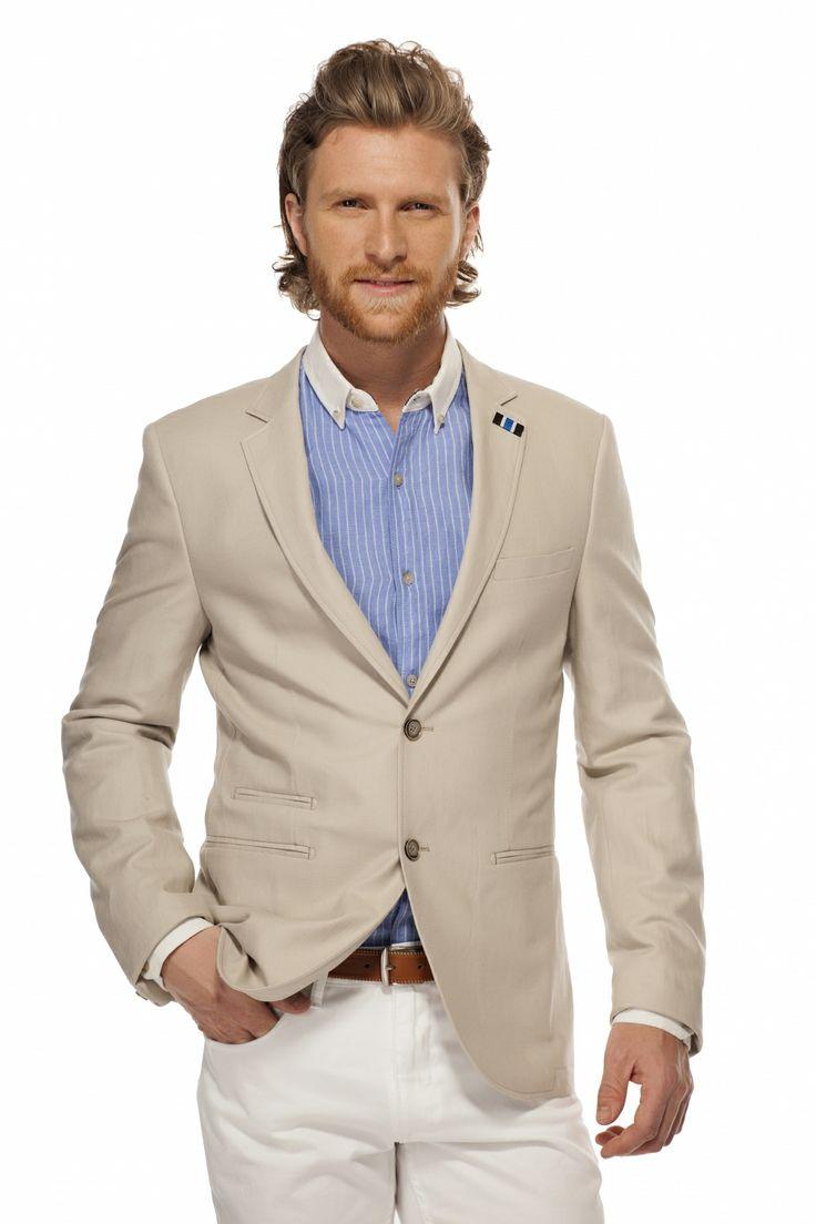 Veston de lin et coton / Cotton & Linen Jacket TRISTAN / tristanstyle.com