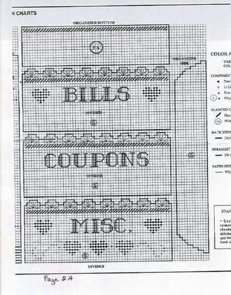 Bills and coupon holder