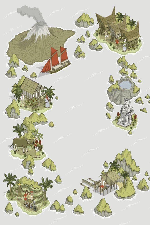 Indonesia etc. book cover illustrations