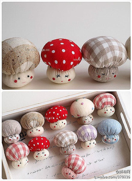 lindos cogumelos para lembrançinha