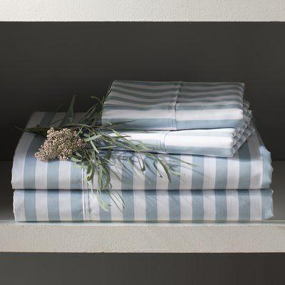 beachcrest home ariel 600 thread count sateen sheet set color light blue size