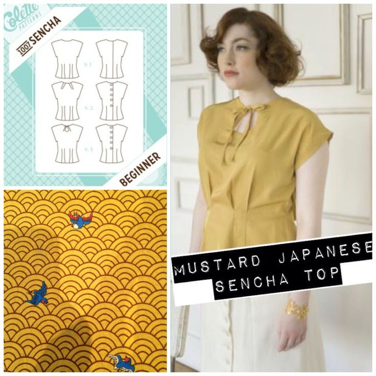 Colette patterns Sencha blouse in mustard japanese voile cotton