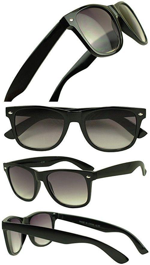 e99e9bc3557a Sunglass Stop - Wayfarer RX Strength Magnification Reading Eye Glasses  +1.00 +1.50 +2.00 +2.50 +3.50 Readers Eyewear (Black Sun Readers