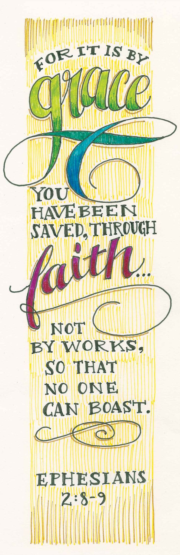 God saves us by grace not by our own works.