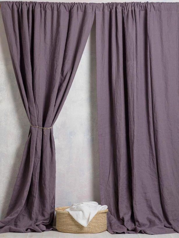 Home Decor Purple Curtains Linen Curtain Panel Drapes Drape In Purple Gray Home Design Ideas Free Pict Purple Curtains Linen Curtain Panels Panel Curtains