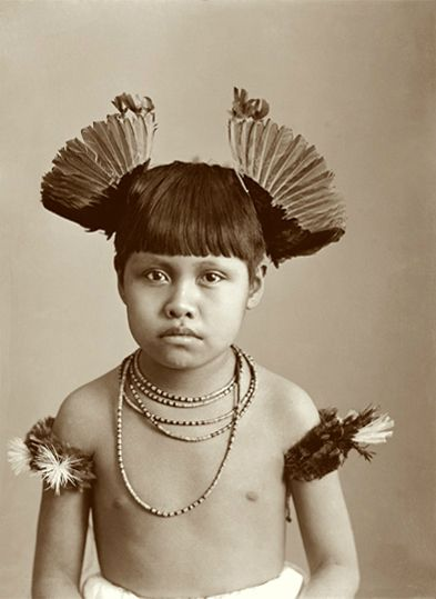 Menino Índio de Mato Grosso (Brasil), Date:- 1896, Author: Marc Ferrez; indian boy