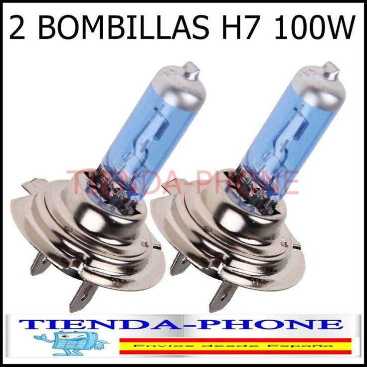 2x Bombillas 100w Lamparas Coche Moto H7 5500K 12V Luz Blanca Tipo Xenon car