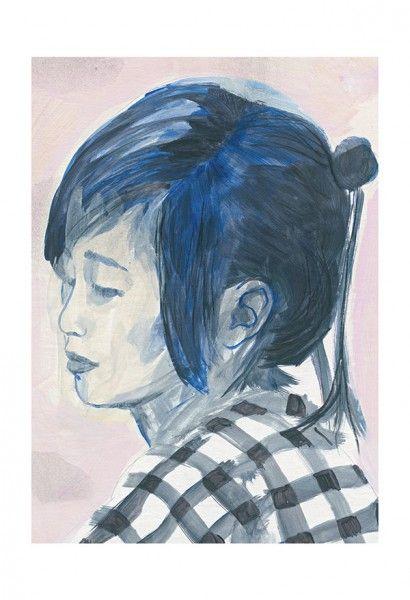 Mingan 10 * Rogé * Girl * Portrait * Acrylic * Graphite * Illustration * Art