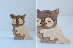 Handmade Owl Wood Puzzles