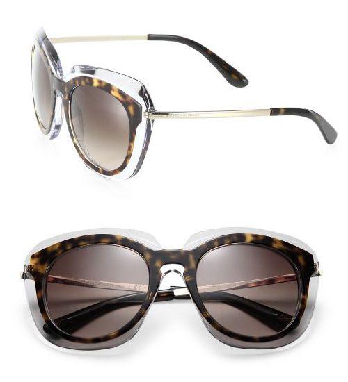 Dolce & Gabbana 54MM Acetate & Metal Double-Layer Sunglasses Black               $59.00