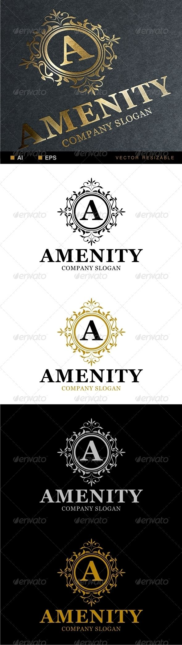 Amenity Logo  .This image is available on GraphicRiver. Easy to edit to your own company name with vector for highly resizable and printing. Including AI and EPS 10 with RGB and CMYK color mode. 100% vector (re-sizable). Free font used Georgia, you can download here fontzone /font-details/georgia  *mockup are for preview purpose only! GraphicRiver Created: 6 2 14 Graphics Files Included:   Vector EPS, AI Illustrator  Layered:Yes Minimum Adobe CS Version:   CS Resolution:Resizable