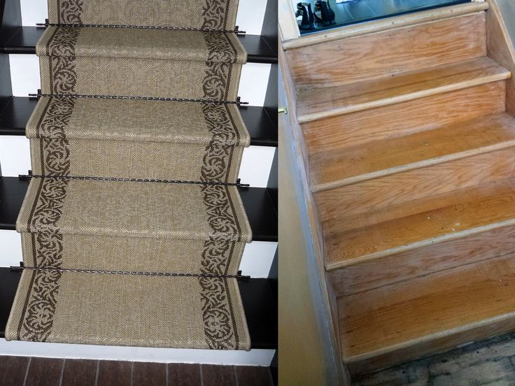 Before and after my old ugly stairs!