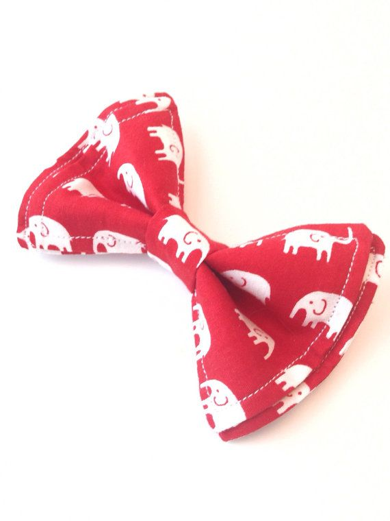 Boys Bow Tie  Elephant On Red Bow Tie  Bow Tie  Bow by TinyTies
