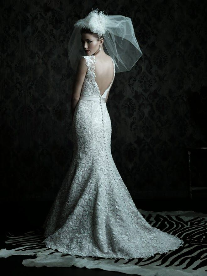 Beautiful lace details- Allure Couture bridal collection