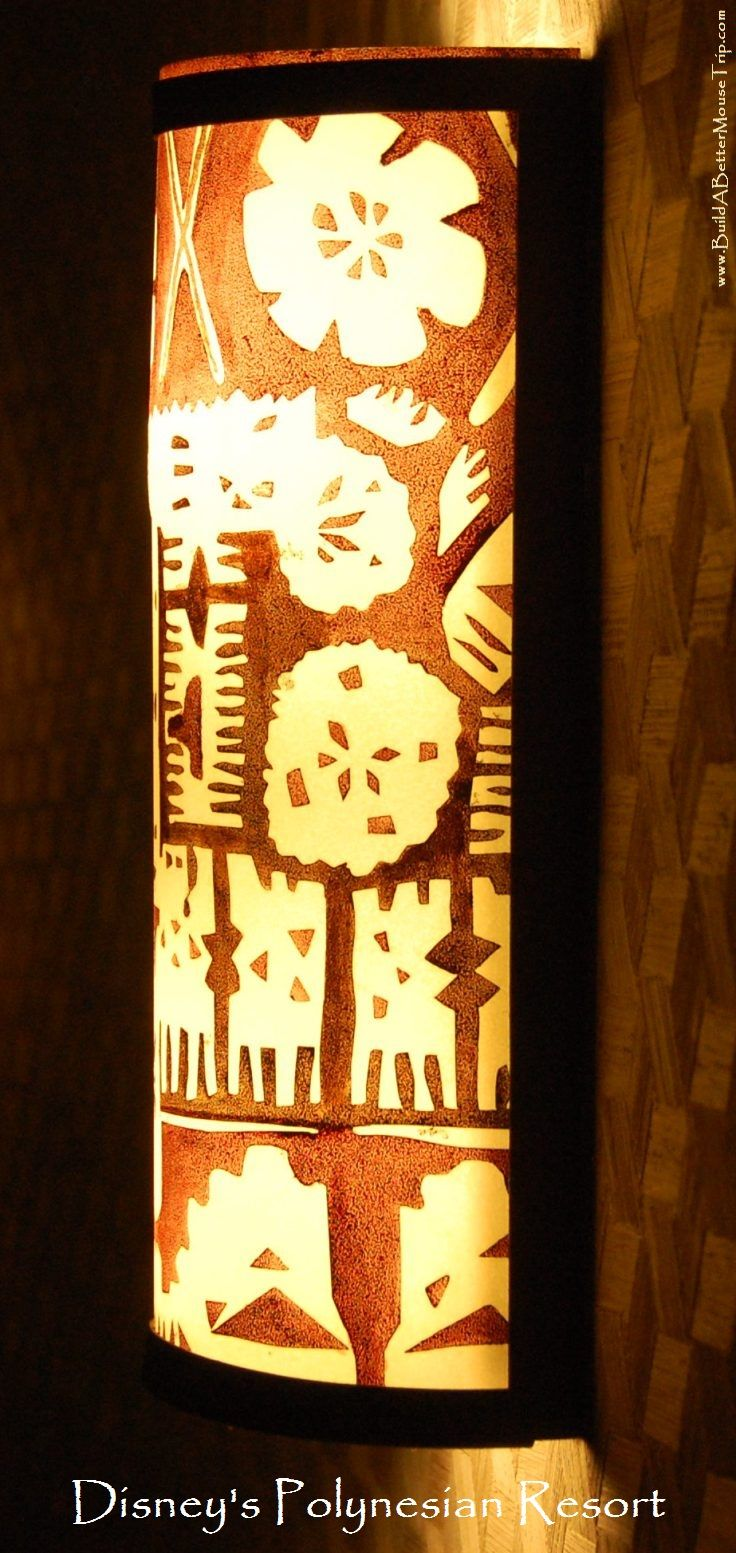 One of the light fixtures at Disney\'s Polynesian Village Resort. For ...