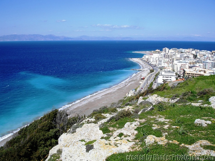 Rhodes Island Greece - New Town - The West Coast