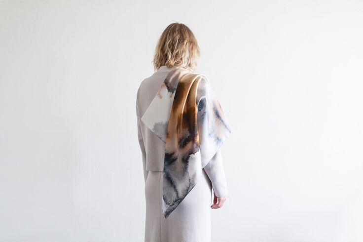 Studio Cosima x Studio Haze  Mineral silk scarf collection  Jaspis scarf 94 x 94 cm