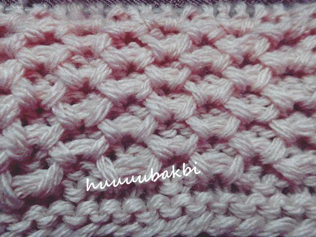 knit honeycomb  pattern,haroşalı petek şiş örnek