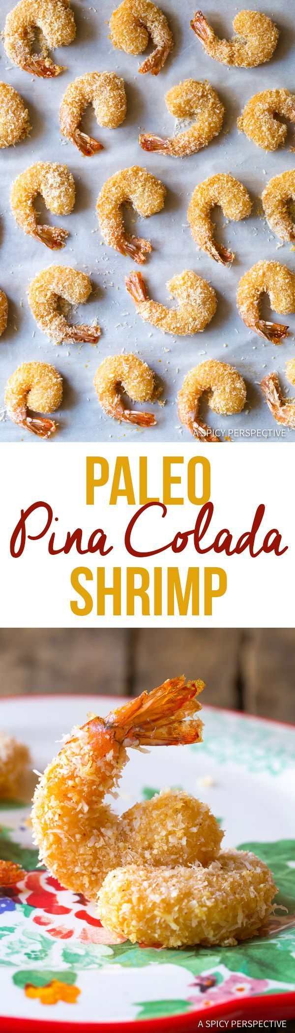 Healthy Paleo Coconut Shrimp Recipe (Pina Colada Shrimp & Gluten Free!) | ASpicyPerspective...