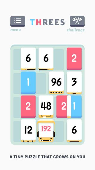 Threes! Forget about 2048. This is the original, and it's much more charming.
