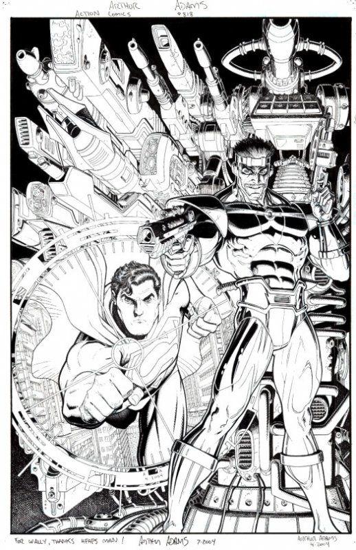 Arthur Adams Action 813 Cover Comic Art