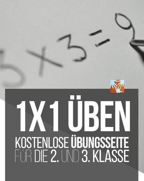Einmaleins üben: Kostenlose Übungsseite für Grundschüler/Volksschüler, 2. Klasse, 3. Klasse