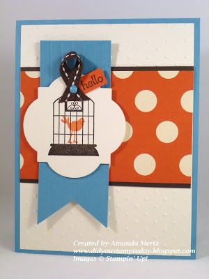 Stampin' Up! Card  by Amanda Mertz at Did You Stamp Today?: Aviary Hello