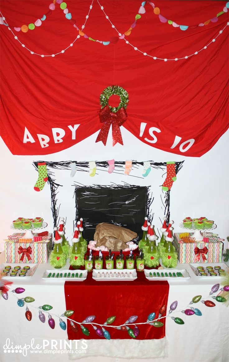 Such a creative party for kids! How the Grinch Stole Christmas.