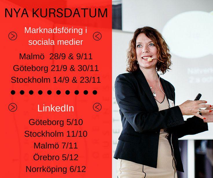 ->> NYA KURSDATUM <<- I höst kör jag ännu fler heldagsutbildningar - i en stad nära dig!   👉 MARKNADSFÖRING I SOCIALA MEDIER 👈 Malmö 28/9 & 9/11 Göteborg 21/9 & 30/11 Stockholm 14/9 & 23/11  👉 LINKEDIN 👈 Göteborg 5/10  Stockholm 11/10 Malmö 7/11  Örebro 5/12 Norrköping 6/12