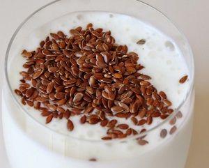 правильное очищение семенами льна с кефиром