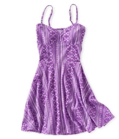 Batik Cut-Out DressSummer Dresses, Purple Dresses, Style, Clothing, Colors Pattern, Easter Dresses, At The Beach, Purple Sundresses, Aeropostale Dresses