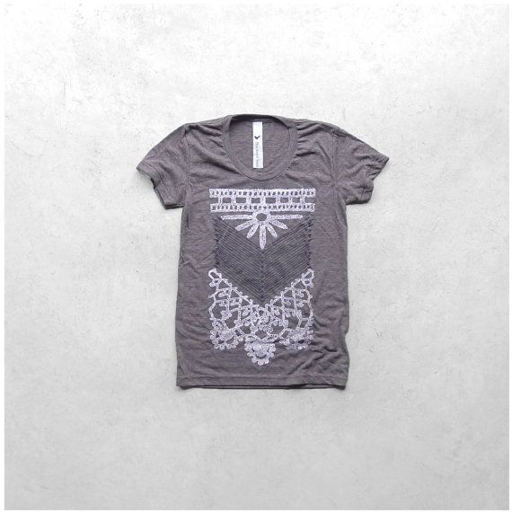 The Nomad  tshirt for women  tribal chest plate by blackbirdtees, $25.00