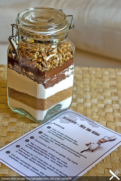 Brownie - Mix im Glas (Rezept mit Bild) von famenight | Chefkoch.de