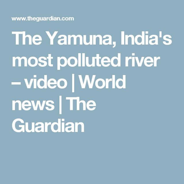 The Yamuna, India's most polluted river – video | World news | The Guardian