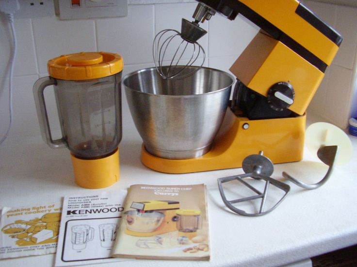 Kenwood Super Chef A901 Mixer Liquidiser Steel Bowl Orange