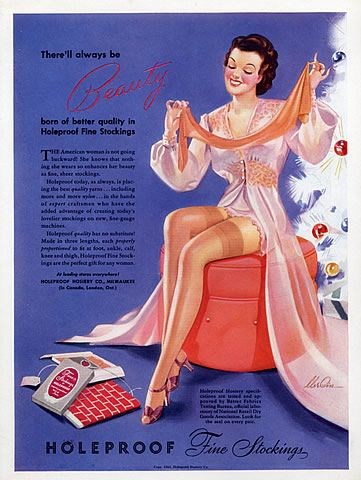Holeproof Stockings / Hosiery vintage Christmas ad, 1941