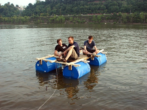 Homemade Raft Cool Stuff Raft Building Floating Raft