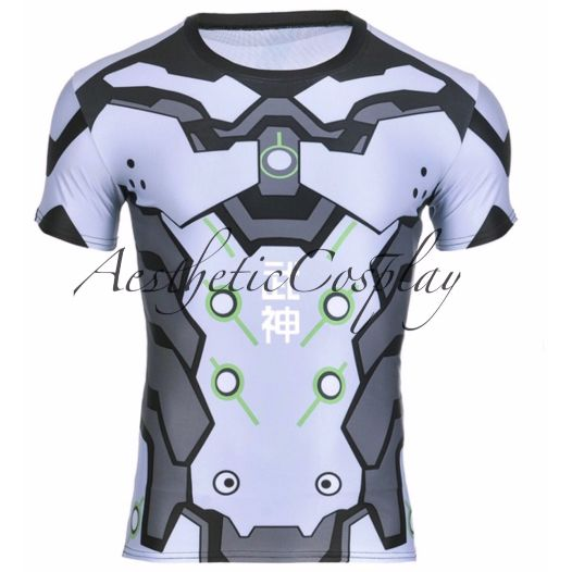 This listing is for a Overwatch Genji Cosplay T-Shirt / Muscle Shirt. The design is based on Blizzard Overwatch's Genji character. T Shirt Specifics Collar : Crew Neck Sleeve Length : Short Sleeve Fea