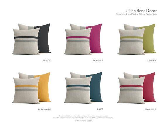 Colorblock pillow, Pillow set