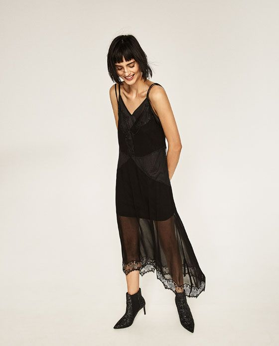 Image 1 of SHEER CAMISOLE DRESS from Zara
