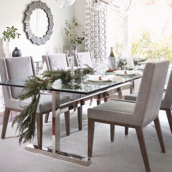Mercer Rectangular Dining Table Glass Dining Table Decor Contemporary Dining Table Glass Dining Table Rectangular