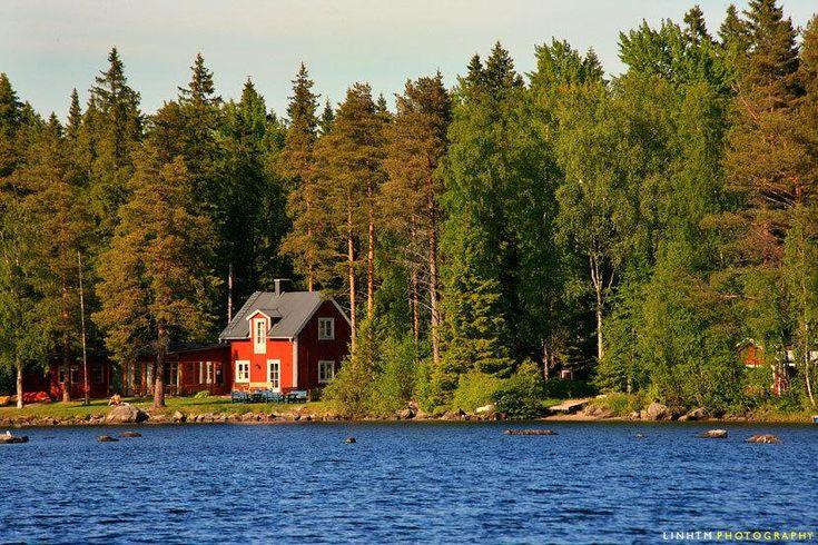 house on nydala lake, sweden