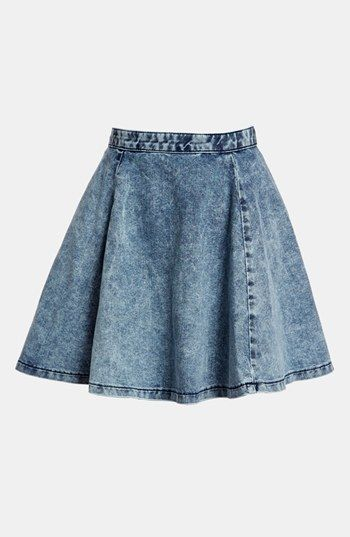simple denim skirt