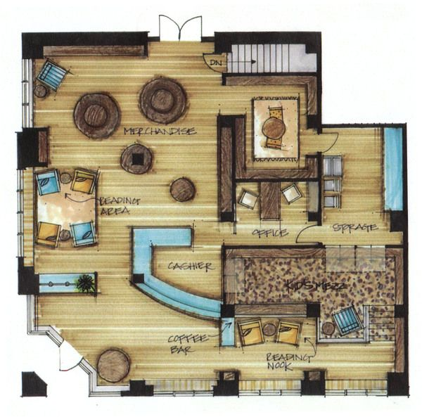 8 best floor plan rendering images on pinterest interior for Interior design sketches