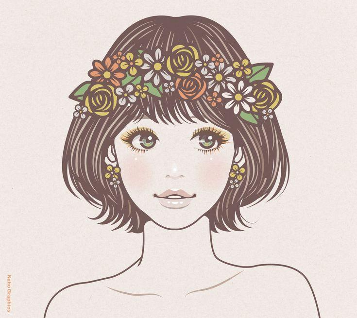 【web】http://naho.tv/ 【twitter】https://twitter.com/NahoGraphics 【Youtube】https://www.youtube.com/channel/UC81jOID4X2mNtjh47jp02oQ 【instragram】https://www.instagram.com/naho_note/ #illustration #drawing #art #design #fashion #hair #hairstyle #face #design #イラスト #イラストレーション #アート #女性イラスト #ドローイング #絵 #make #メイク #女の子 #girl #woman #女性 #ファッション #ウェディング #wedding #ゆるふわ #ミディアム #パステルカラー #ガーリー #花 #花冠 #flower