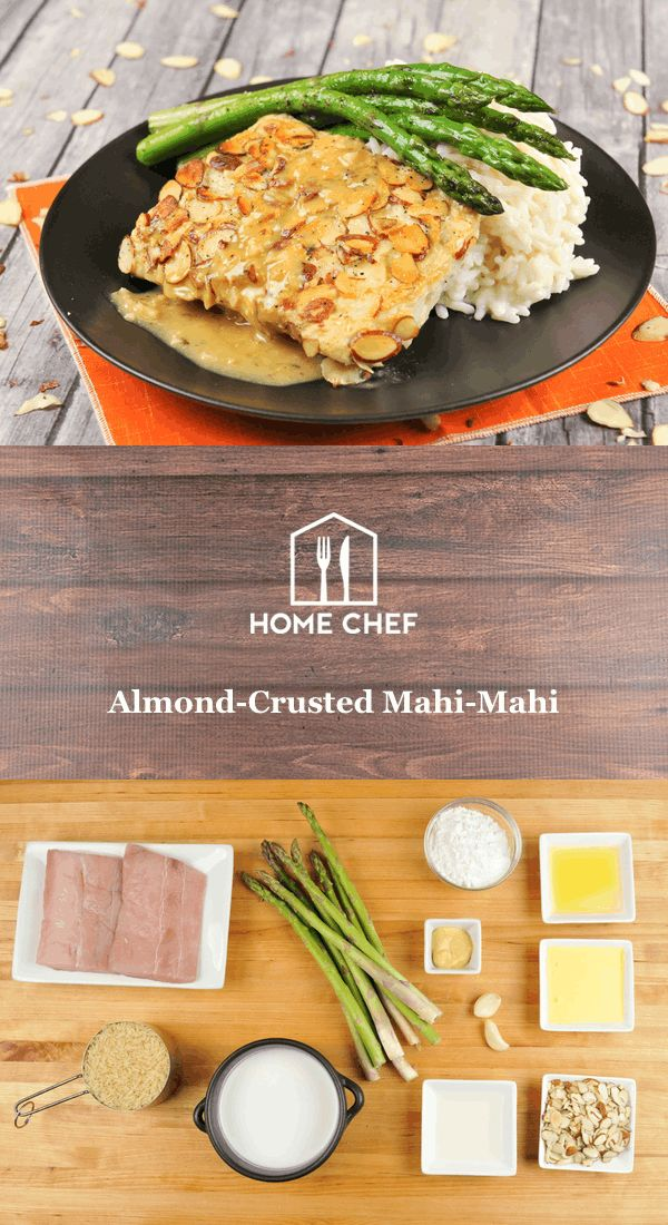 Mahi-mahi are highly prized by fisherman for their strength, beauty, healthy numbers, and excellent eating quality. The firm, yet flaky and mild fillets are perfectly paired with crunchy almonds, sweet pineapple, and bright mustard. Rice cooked in coconut milk completes the tropical spin in this meal that will transport you to a sunny locale, wherever you may be.