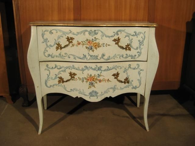 Hand Painted Furniture | Antique Italian Hand Painted Chest   Furniture    The Collection .
