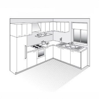 Plan De Cuisine En L Kitchendesign3mx4m Modern Kitchen Interiors Kitchen Plans Kitchen Cabinet Remodel